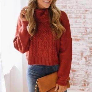 Jack by Bb Dakota Orange sweater